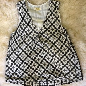 Black and White MAEVE blouse